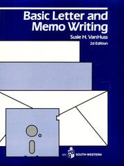 Cover of: Basic Letter and Memo Writing by Susie Van Huss