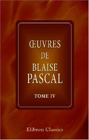 Cover of: uvres de Blaise Pascal by Blaise Pascal