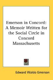 Cover of: Emerson in Concord by Edward Waldo Emerson