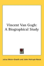 Cover of: Vincent van Gogh by Julius Meier-Graefe