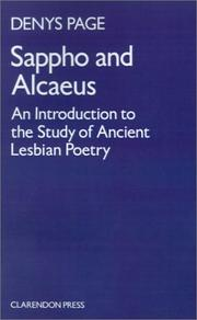 Cover of: Sappho and Alcaeus by Denys Lionel Page