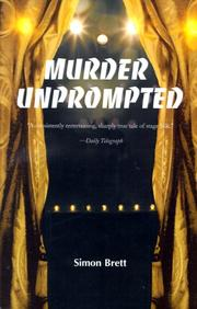 Cover of: Murder unprompted by Simon Brett