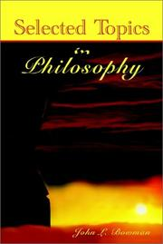 Cover of: Selected Topics in Philosophy by John L. Bowman