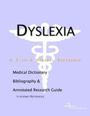 Dyslexia - A Medical Dictionary, Bibliography, and Annotated ...