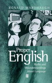 Cover of: Proper English by Ronald Wardhaugh