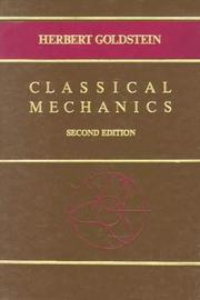 Cover of: Classical mechanics by Goldstein, Herbert