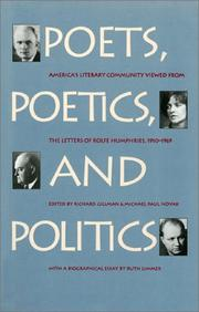 Cover of: Poets, poetics, and politics by Rolfe Humphries