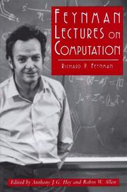 Cover of: Feynman lectures on computation by Richard Phillips Feynman