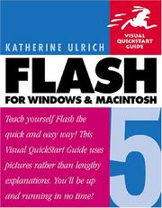 Cover of: Flash 5 for Windows and Macintosh by Katherine Ulrich