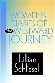 Cover of: Women's Diaries of the Westward Journey by Lillian Schlissel
