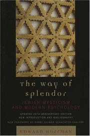 Cover of: The Way of Splendor, updated 25th Anniversary Edition by Hoffman Edward, Edward Hoffman