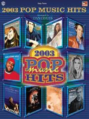 Cover of: 2003 Pop Music Hits by Dan Coates