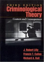 Cover of: Criminological theory by J. Robert Lilly
