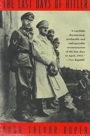 Cover of: The last days of Hitler by H. R. Trevor-Roper