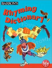 Cover of: Rhyming dictionary by Sue Graves