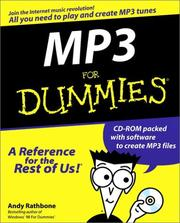Cover of: MP3 for dummies by Andy Rathbone