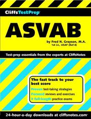 Cover of: ASVAB by Fred N. Grayson