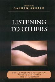 Cover of: Listening to Others by Salman Akhtar