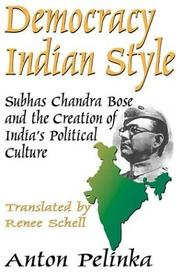 Cover of: Democracy Indian Style by Anton Pelinka