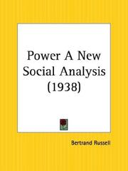 Cover of: Power by Bertrand Russell