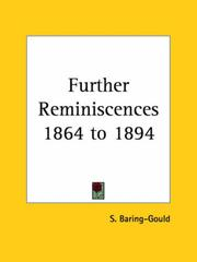 Cover of: Further Reminiscences 1864 to 1894 by Baring-Gould, S.
