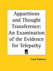 Cover of: Apparitions and thought-transference by Frank Podmore