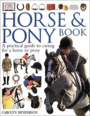 Cover of: Horse & pony book by Carolyn Henderson
