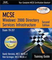 Cover of: MCSE Windows 2000 directory services infrastructure by Damir Bersinic