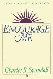 Cover of: Encourage me by Charles R. Swindoll