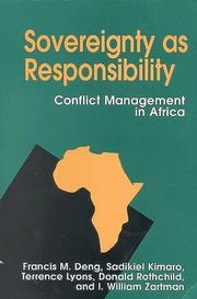 Cover of: Sovereignty As Responsibility by Francis Mading Deng