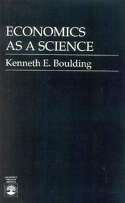 Cover of: Economic as a science by Kenneth Ewart Boulding