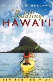 Cover of: Paddling Hawaii by Audrey Sutherland