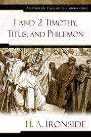Cover of: 1 and 2 Timothy, Titus, and Philemon by H. A. Ironside