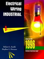 Cover of: Electrical wiring, industrial by Smith, Robert L.