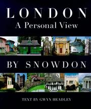 Cover of: London, sight unseen by Snowdon, Antony Armstrong-Jones Earl of