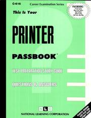 Printer (Career Examination Series : C-C16) Jack Rudman