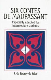Cover of: Six contes de Maupassant by Guy de Maupassant