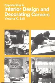 Cover of: Opportunities in interior design and decorating careers by Victoria Kloss Ball
