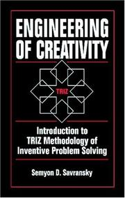 Cover of: Engineering of Creativity by Semyon D. Savransky