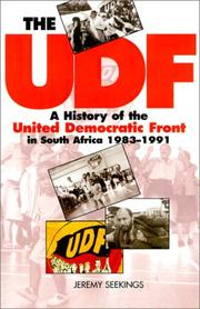 Cover of: The Udf by Jeremy Seekings
