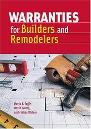 Cover of: Warranties for builders and remodelers by David Crump