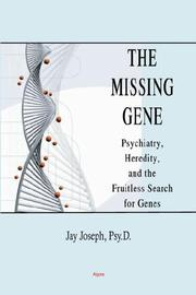 Cover of: The Missing Gene by Jay Joseph