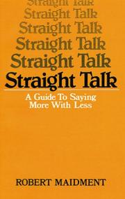 Cover of: Straight talk by Robert Maidment