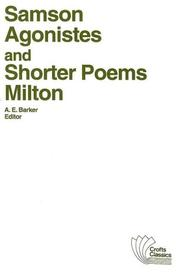 Cover of: Samson Agonistes and shorter poems by John Milton