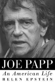 Cover of: Joe Papp by Helen Epstein