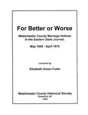 Cover of: For better or worse by Elizabeth Green Fuller