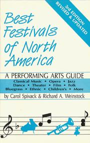 Cover of: Best festivals of North America by Carol Spivack