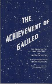 Cover of: The achievement of Galileo by Galileo Galilei