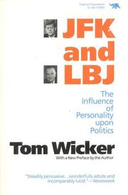 Cover of: JFK and LBJ by Tom Wicker