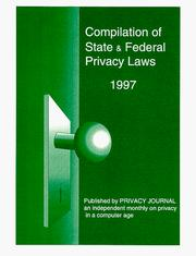 Cover of: Compilation of State and Federal Privacy Laws by Robert Ellis Smith
